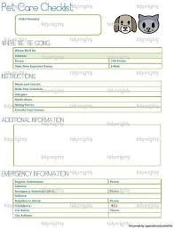 Pet Information Template Pet Sitter Notes Template Magdalene Project Org