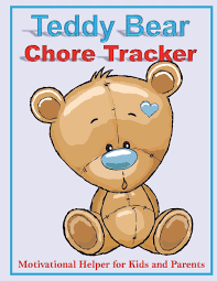 Teddy Bear Chart Teddy Bear Chore Tracker 8 5 X 11 Full Color Interior