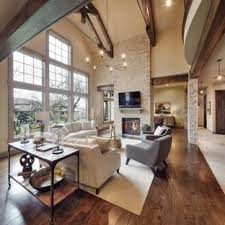 Keswickcountry bedroom paint color schemes designer office Living Room Family Room Rustic Dark Wood Floor Family Room Idea In Kansas City With Beige Walls Good Housekeeping 75 Most Popular Family Room With Standard Fireplace Design Ideas