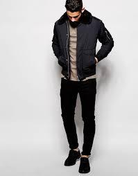 purchase authentic schott er jacket with 6g8sti j faux fur collar black men