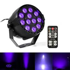 Black Light With Remote Uv Blacklight 12 Led Bar Light Stage Disco Party Pub Museum