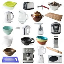 Of Kitchen Appliances Collage Of Different Kinds Of Kitchen Appliances And Ware Isolated