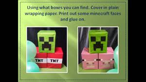 Minecraft Party Decorations Minecraft Party Ideas Youtube