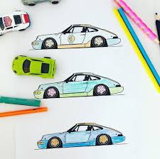 Convertible car on the road. Coloring Pages Cars Colorcrush Me