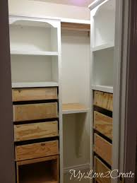 master closet shelf makeover with rods my love 2 create on remodelaholic