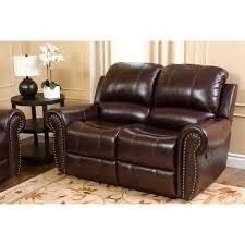 Abbyson Lexington Dark Burgundy Italian Leather Reclining Loveseat and Sofa  Set | Hayneedle