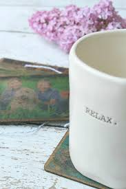 diy vintage photo coasters use this easy photo transfer technique to transfer your photos onto