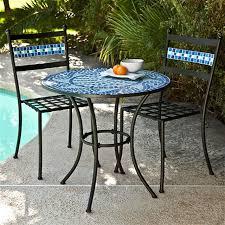 outdoor 3 piece aqua blue mosaic tiles