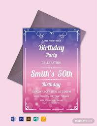 81 Free Birthday Invitation Templates Download Readymade