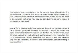 business letter salutation business letter 9 free samples examples formats