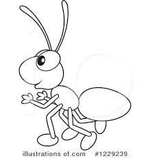 Small Picture Ant Coloring Pages for Kids Preschool and Kindergarten