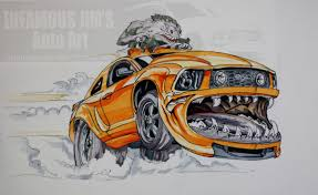 Really Cool Cartoon Cars Car Club Drawing Car Toon Art