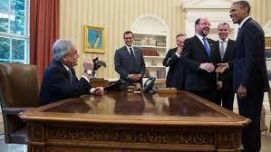 oval office images president barack obama jokes with members of the chilean delegation as president sebastian fileobama oval officejpg