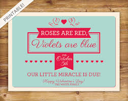 valentines day pregnancy announcement cards valentines day pregnancy announcement valentines etsy