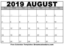 August Calandar Printable August 2019 Calendar Ko Fi Where Creators