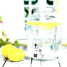 glass beverage dispenser with spigot 5