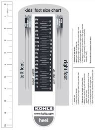 Child Foot Measure Chart The Importance Of Measuring Childrens Feet To Fit Shoes