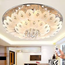 modern k9 led crystal chandelier remote control pendant ceiling lighting lamps