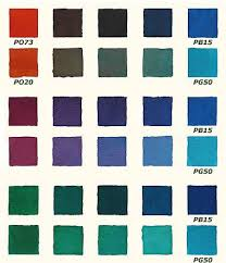 Basic Paint Color Mixing Chart Handprint Learning Color Through Paints