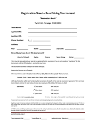 Tournament Sign Up Sheets Fillable Online Registration Sheet Bass Fishing Tournament