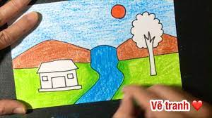 Cách Vẽ Tranh Phong Cảnh LỚp 7 Thác Nước ĐƠN GIẢN mà ĐẸP | how to draw easy  scenery | Tổng hợp những bức tranh đẹp nhất