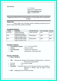 Sample Resume For Freshers It Engineers Sample Resume For