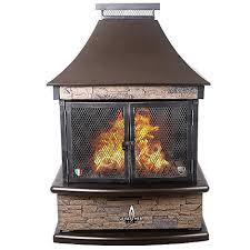 lava heat italia natural gas patio lorenzo fireplace in heritage bronze with stone available on