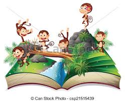 pop up book with monkeys csp21515439
