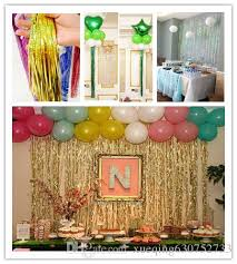 1 2m photo wall curtain garland laser rain curtain decoration birthday festa ribbon suppliesew new year party wedding decorations for party decorations