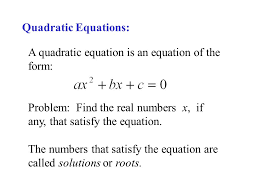 9 quadratic equations