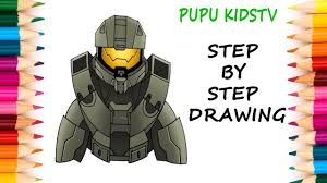 Small Picture How to Draw Master Chief Halo 5 Art for kids Coloring pages