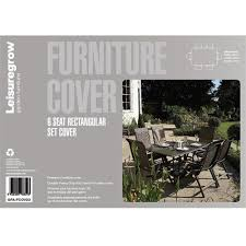 breathable garden furniture covers. Leisuregrow 6 Seat Rectangular Garden Furniture Cover 200cm X 265cm Breathable Covers E