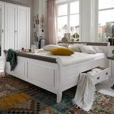 Schlafzimmer Einrichtung Benfitas In Weiß Grau Pharao24de