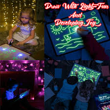 Kids Light Board Details About Draw With Light Fun And Developing Toy Uv Luminous Pen Drawing Board Gift Kids