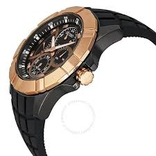 seiko chronograph black dial rose gold tone stainless steel men s seiko chronograph black dial rose gold tone stainless steel men s watch srl072