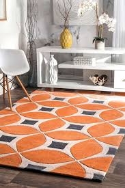 details about nuloom hand made modern geometric trellis area rug in orange grey white