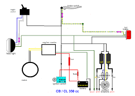 cl 350 minimal wiring diagram useful information for motorcycles cl 350 minimal wiring diagram