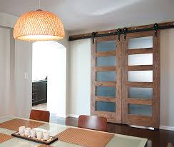 stained pine and frosted glass panel