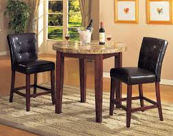 granite top dining table set. 22 Top Comfortable Bar Height Dining Table Sets Design Ideas : Minimalist Round Granite Set W