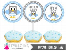 Owls Baby Shower Figurines  Owls For Corsages Cupcake Toppers Baby Shower Owl Cake Toppers
