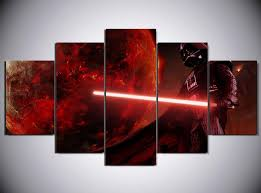 5 piece star wars darth vader movie canvas painting wall art it make your day on star wars 5 panel canvas wall art with 5 piece star wars darth vader movie canvas wall art paintings for