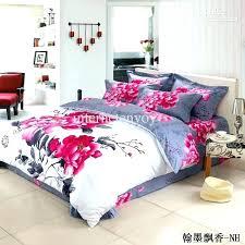 pink queen size bedding grey