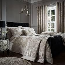 catherine lansfield crushed velvet duvet set