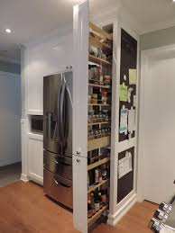 Pull out pantry and chalkboard transitional-kitchen