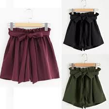 2019 Women Sexy Bow Solid Casual Fit <b>Elastic Waist Pocket</b> Beach ...