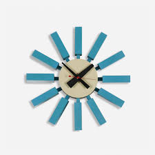 george nelson u associates block wall clock from the clocks ahead of time  with nelson eye