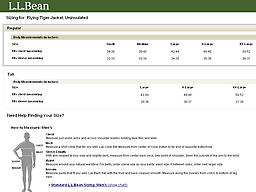 Llbean Com Size Chart Www Llbean Com L L Bean The Outside Is Inside Everything