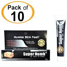 details about 10g x 10 super numb numbing cream anesthetic tattoo piercing waxing laser dr
