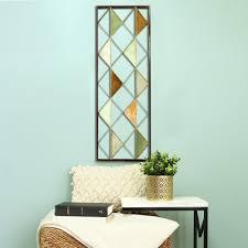stratton home decor multi triangle metal panel wall decor