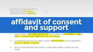 affidavit of consent and support free